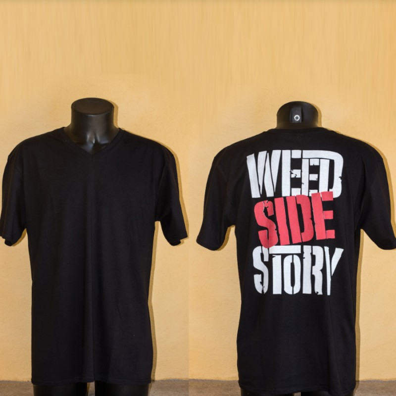 T-shirt, homme, col en V