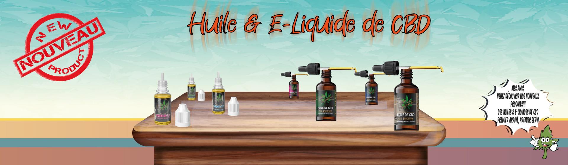 Huile et E-liquide